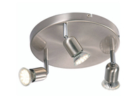 Nordlux Avenue LED Ceiling Light 3 x 3w Brushed Steel 76560132