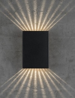 Nordlux Fold Black Outdoor Wall Light 45401003