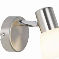 Nordlux Lissabon Wall Light 40w Brushed Steel 74781033