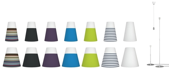 Nordlux Respect 30 Blue & White Striped Lamp Shade 76983246