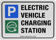 Rolec EV Charging A5 Landscape Parking Sign EVPS0020