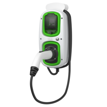 Rolec WallPod EV-Tethered Lead SuperFast Charger 18th Edition Type 2 32A 22kW 3Phase EVWP2156