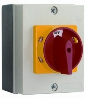 Rotary Isolator Switch 40A 4 Pole IP65 Rated