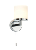 Saxby LIPCO 39608 Bathroom Wall Light Chrome & White