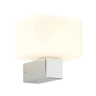 Saxby Lone 37350 Single Wall Light Chrome & White G9