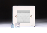 Schneider Brush Cable Outlet Wall Plate Polished Chrome GU8260PCBRW