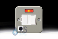 Schneider Exclusive Metal Clad 13A Switched Spur Neon & Flex Outlet GMC13SSPNF