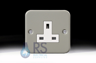 Schneider Exclusive Metal Clad 13A Unswitched Single Socket GMC131S