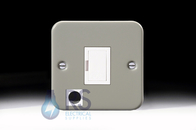 Schneider Exclusive Metal Clad 13A Unswitched Spur Flex Outlet GMC13SPF