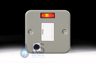 Schneider Exclusive Metal Clad 13A Unswitched Spur Flex Outlet Neon GMC13SPFN