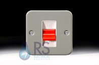 Schneider Exclusive Metal Clad 50A Double Pole Switch GMC50S