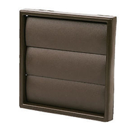 Manrose Exterior Fan 4 Inch Brown Grill Gravity Louvre 1162BROWN