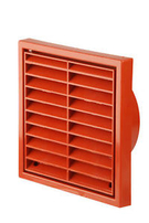 Manrose Exterior Fan 4 Inch Terracotta Grille Fixed Louvre 1152T