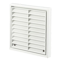 Manrose Exterior Fan 4 Inch White Grill Fixed Louvre 1152W