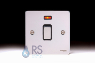 Schneider Flat Plate 20A DP Switch with Neon Polished Chrome GU2211BPC