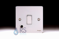 Schneider Flat Plate 20A DP Switch with Flex Outlet Polished Chrome GU2213WPC