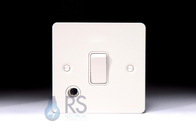 Schneider Flat Plate 20A DP Switch White Metal Flex Outlet GU2213WPW