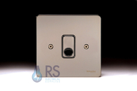 Schneider Flat Plate Black Nickel Flex Outlet Plate GU2203BBN