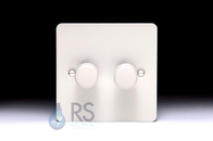 Schneider Flat Plate LED Dimmer Switch White Metal GU6222LPW