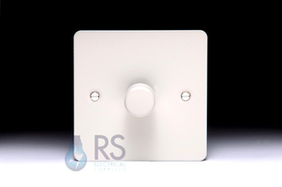 Schneider Flat Plate LED Dimmer Switch White Metal GU6212LPW