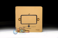 Schneider Flat Plate Fan Isolator Switch Polished Brass GU1213BPB