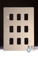 Schneider Flat Plate Grid Plate 9 Gang Stainless Steel GUG09GSS
