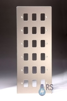 Schneider Flat Plate Grid Plate 18 Gang Stainless Steel GUG18GSS