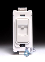 Schneider Ultimate RJ45 CAT5e Grid Module White Metal GUGRJ45WPW