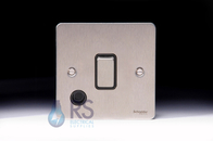 Schneider Flat Plate 20A Switch Stainless Steel Flex Outlet GU2213BSS
