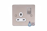 Schneider Flat Plate Single Socket DP Stainless Steel GU3210DWSS