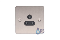 Schneider Flat Plate 2G Double Unswitched Socket Stainless Steel GU3260BSS
