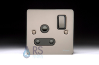 Schneider Flat Plate GU3290BBN Black Nickel 15A Switched Socket