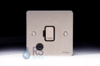 Schneider Flat Plate  Unswitched Spur with Flex Outlet GU5203BSS