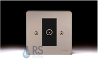 Schneider Flat Plate GU7210MBBN Black Nickel TV Socket