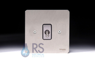 Schneider Flat Plate Intermediate Toggle Switch Stainless Steel 1G GU1214TBSS