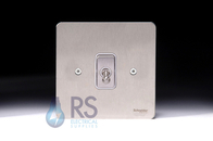Schneider Flat Plate Intermediate Toggle Switch Stainless Steel 1G GU1214TWSS