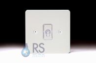 Schneider Flat Plate Intermediate Toggle Switch White Metal 1G GU1214TWPW