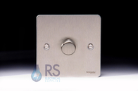 Schneider Flat Plate LED Dimmer Switch Stainless Steel GU6212LSS