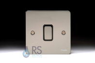 Schneider Flat Plate Light Switch Black Nickel 1G GU1212BBN