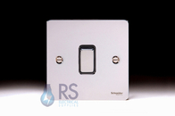 Schneider Flat Plate Light Switch Polished Chrome 1G GU1212BPC