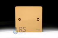 Schneider Flat Plate Polished Brass Single Blank Plate GU8210PB