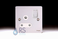 Schneider Flat Plate Polished Chrome 15 Amp  Switched Socket GU3290WPC