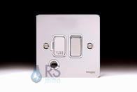 Schneider Flat Plate Polished Chrome Switched Spur Flex Outlet GU5213WPC