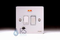 Schneider Flat Plate Polished Chrome Switched Spur Neon & Flex Outlet GU5214WPC