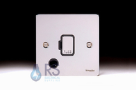 Schneider Flat Plate Polished Chrome Unswitched Spur Flex Outlet GU5203BPC