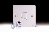 Schneider Flat Plate Polished Chrome Unswitched Spur Flex Outlet GU5203WPC