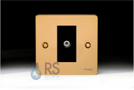 Schneider Flat Plate Satellite Socket Polished Brass GU7230MBPB