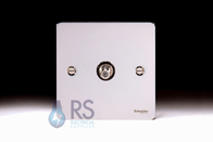 Schneider Flat Plate Satellite Socket Polished Chrome GU7230BPC