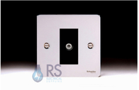 Schneider Flat Plate Satellite Socket Polished Chrome GU7230MBPC