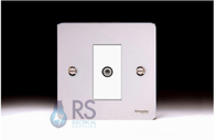 Schneider Flat Plate Satellite Socket Polished Chrome GU7230MWPC